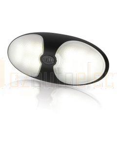 Hella Marine 2JA959700-121 White LED DuraLED 12 Lamps - Single Blister Pack, Black Shroud