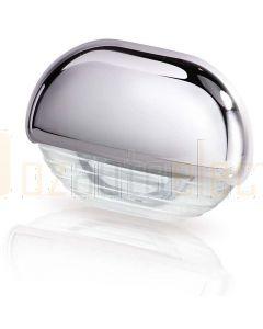 Hella Marine 2JA998560-001 White LED Easy Fit Step Lamp - 12-24V DC, Chrome Plated Cap