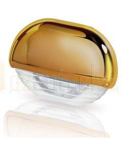 Hella Marine 2JA998560-081 White LED Easy Fit Step Lamp - 12-24V DC, Gold Plated Cap