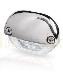 Hella Marine 2JA998560-161 White LED Easy Fit Step Lamp - 12-24V DC, Polished Stainless Steel Cap