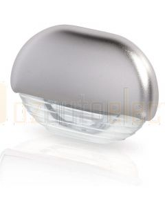 Hella Marine 2JA998560-121 White LED Easy Fit Step Lamp - 12-24V DC, Satin Chrome Plated Cap