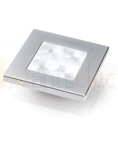 Hella Marine 2XT980580-561 White LED 'Enhanced Brightness' Square Courtesy Lamp - 12V DC, Satin Chrome Plated Rim