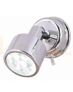 Hella Marine 2JA980770-301 White LED Ponui Reading Lamps - 24V, Bright Chrome Finish