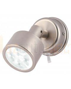 Hella Marine 2JA980770-311 White LED Ponui Reading Lamps - 24V, Satin Chrome Finish