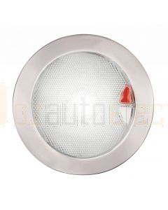 Hella Marine 2JA980630-011 White / Red Recessed EuroLED 150 Touch Lamp - 9-33V DC Polished Stainless Steel Rim