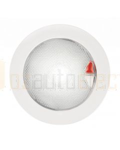 Hella 2JA980630001 9-33V DC White / Red Recessed EuroLED 150 Touch Lamp with White Plastic Rim