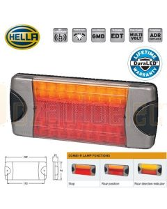 Hella 2377 DuraLED LED Combination Stop / Tail / Indicator Lamp 12/24 Volt Triple Combination