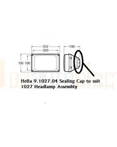 Hella 9.1027.04 Sealing Cap to suit 1027 Headlamp Assembly