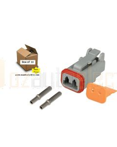 Hella Mining HM4960FM 2 Pin DT Series Deutsch Connectors (10 Pack)
