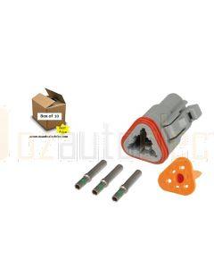 Hella Mining HM4961FM 3 Pin DT Series Deutsch Connectors (10 Pack)