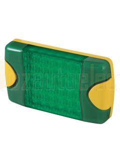 Hella Mining HM95903780D DuraLed M-Series High Intensity Warning Beacon - Narrow Beam DT Plug, Green