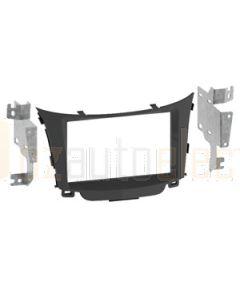Aerpro FP8057 Facia To Suit Hyundai Gloss Black, Metal Brackets