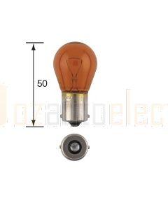 Narva 47383 Indicator Globes 12V 21W Amber BA15s (Box of 10)
