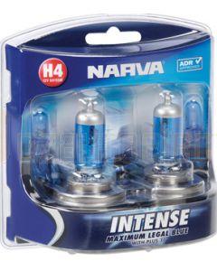 Narva 48472BL2 Halogen H4 Globe 12V 60/55W Intense Intense P43t (Blister Pack of 2)