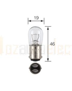 Narva 47004 Interior/Park Globes 12V 15CP (12W) BA15d (Box of 10)