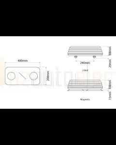 Ionnic 601.AA12  Blaze 2 Bolt Lightbar - Blue Lens (24V)