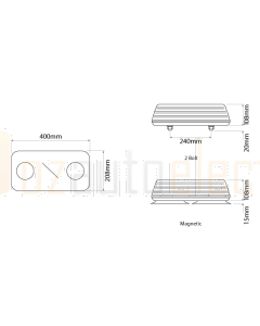 Ionnic 601.AA42 Blaze 2 Bolt Lightbar - Amber Lens (24V)