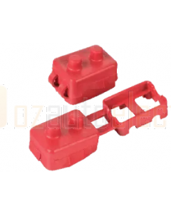Ionnic CB121R/100 121/123 Series Terminal Insulators - Red (Pack of 100)