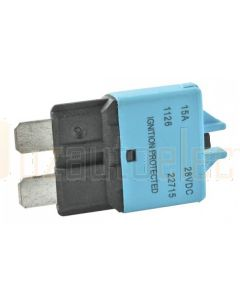 Ionnic CB227-15/10 227 Series Circuit Breaker ATC Blade - 15A, Pack of 10 (Blue)