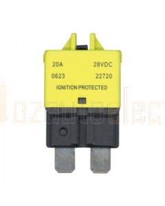 Ionnic CB227-20/10 227 Series Circuit Breaker ATC Blade - 20A, Pack of 10 (Yellow)
