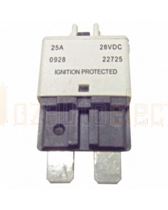 Ionnic CB227-25/10 227 Series Circuit Breaker ATC Blade - 25A, Pack of 10 (White)