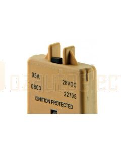 Ionnic CB227-5/10 227 Series Circuit Breaker ATC Blade - 5A, Pack of 10 (Tan)