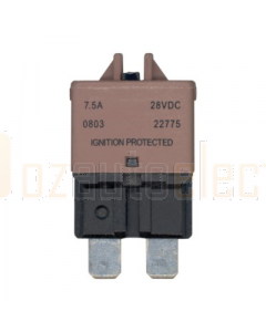 Ionnic CB227-7.5/10 227 Series Circuit Breaker ATC Blade - 7.5A, Pack of 10 (Brown)