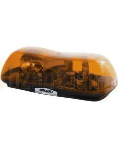 Britax Amber Mini Halogen LightBar 24V Single Bolt Mount