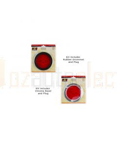 LED Autolamps 110RMC Single Stop/Tail Lamp with Bezel (Blister)