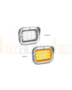 LED Autolamps 130CCAM Single Rear Indicator Lamp with Chrome Bracket (Blister)