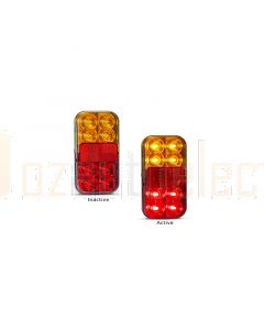 LED Autolamps 149BAR4P Stop/Tail/Indicator/Reflector Combination Lamp with 4 Pin Plug (Bulk Single)