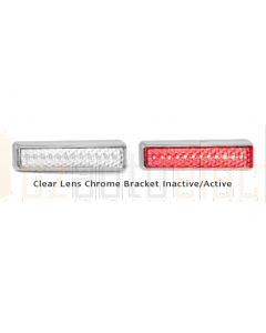 LED Autolamps 200CCRM 200 Series Single Stop/ Tail Lamp - Clear Lens Chrome Bracket (Blister)