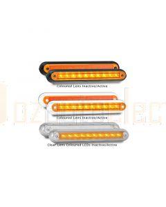 LED Autolamps 235BA12 Single Rear Indicator Surface Mount Lamp - Black Bracket (Blister)