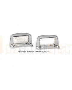 LED Autolamps 35CLMB 35 Series Chrome Licence Plate Lamp (Single Poly Bag)