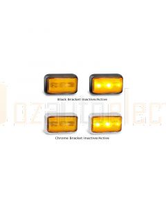 LED Autolamps 58AMB2P Side Direction Indicator Lamp (Bulk Poly Bag with 2C Plugs)
