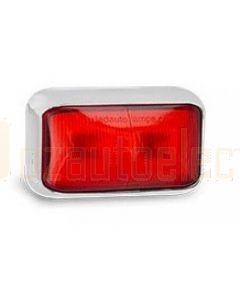 LED Autolamps 58CRM3 Rear End Outline Marker Lamp with Chrome Bracket (3m Cable, Bulk Poly Bag)