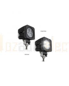LED Autolamps 6612BM Spot Beam Lamp - Black Housing (Single Blister)