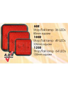 LED Autolamps 100RMB 100 Series Red Replacement Lens