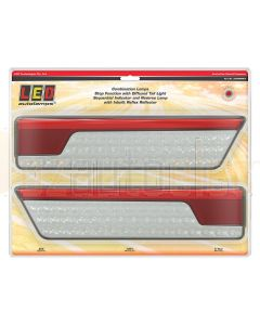 LED Autolamps 355ARWM-2 Chrome Stop/Tail, Sequential Indicator & Reverse Lamps
