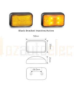 LED Autolamps 35AMB 35 Series Amber Marker Lamp (Bulk Poly Bag)