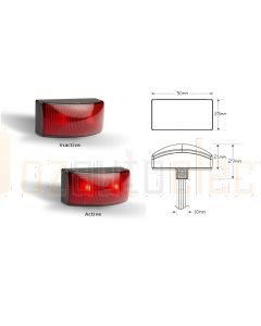 LED Autolamps 50025RM2 Rear End Outline LED Marker Lamp
