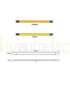 LED Autolamps 530AC12B LED Indicator Lamp 530mm 12V