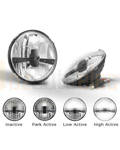 LED Autolamps HL175 Park Lamp/Low Beam/High Beam (Twin Blister Pack)