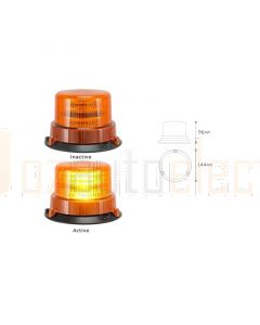 LED Autolamps LRB145 Rotating Amber Beacon (Blister Single)