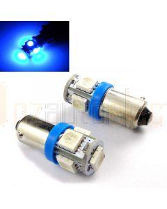 LED BA9s 5x5050 SMD Globe (Blue)