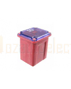 Low Profile JCase Fuse LJC050 50A 58VDC - Red