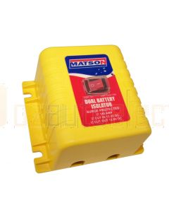 Matson MA98404 Dual Battery Isolator with Emergency Override Switch