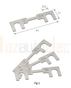 Narva 54006 Metal Fuse Strips - 80Amp (Pack of 10)