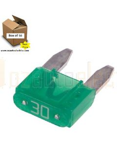 Narva 52730 Mini Blade Fuses - 30Amp (Box of 50)