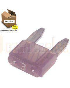 Narva 52703 Mini Blade Fuses - 3Amp (Box of 50)
